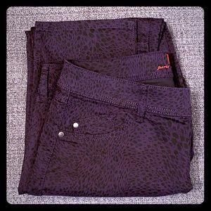 Purple Animal Print Elle Jeans